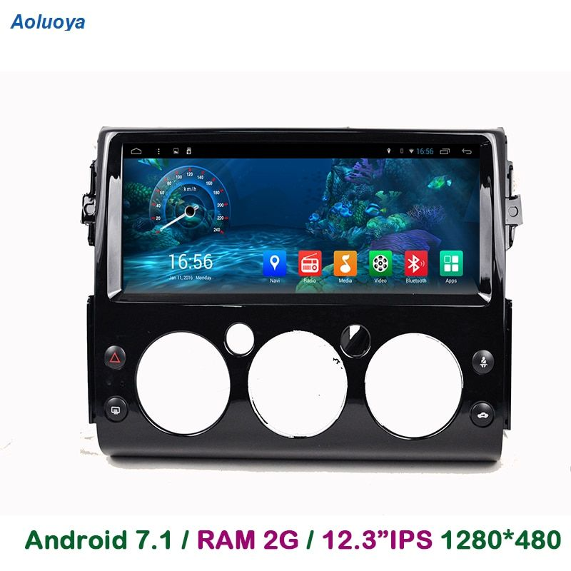 Aoluoya 12,3 IPS 2 gb RAM Android 7.1 Auto DVD Player Für Toyota FJ Cruiser 2007 2008 2009 2010 2011 -2016 Radio GPS Navigation BT