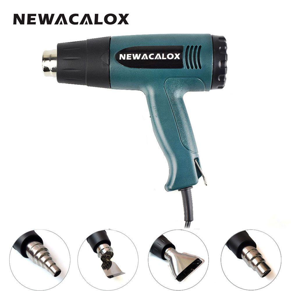 NEWACALOX 1800 Watt 220 V UE Plug Industrielle Électrique Pistolet À Air Chaud Thermorégulateur Heat Gun Kit Professionnel Heatguns Shrink Wrap