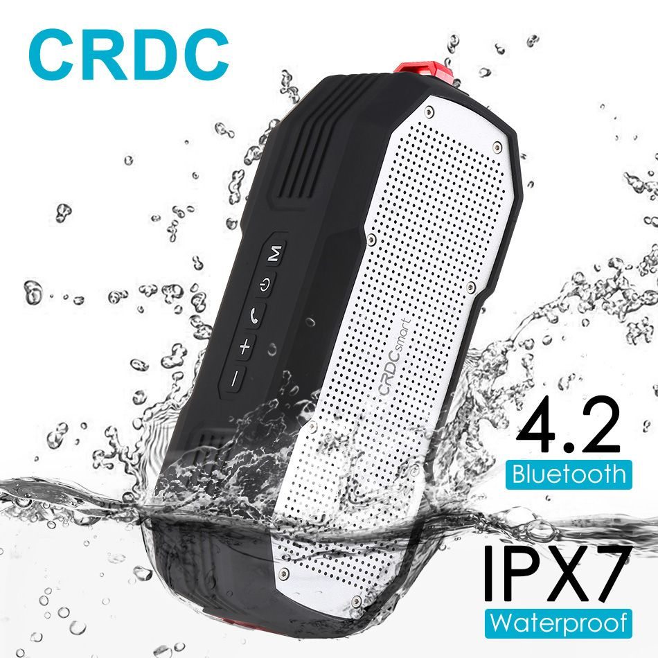 CRDC Bluetooth 4.2 Speaker Waterproof Wireless Stereo Mini Portable MP3 Player Super Bass with Mic Handsfree Column <font><b>Loudspeakers</b></font>
