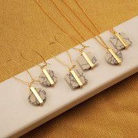 2016 de la señora de la moda hermoso colgante pendientes mármol restaurar antiguas formas de piedra blanca pendientes cuadrados EE558