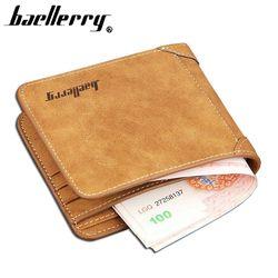 Kualitas tinggi Lembut Kulit dompet pria gaya vintage Baellery merek pria dompet kulit dompet laki-laki pemegang kartu kredit uang tas