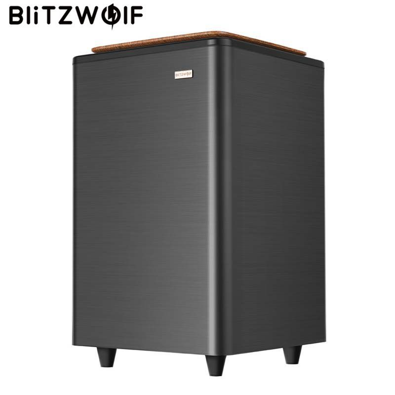 BlitzWolf BW-SW2 70W Turbo 2.4G Wireless Subwoofer Large Dual Bass Wooden Horns Loudspeaker for BW-SDB2 Soundbar