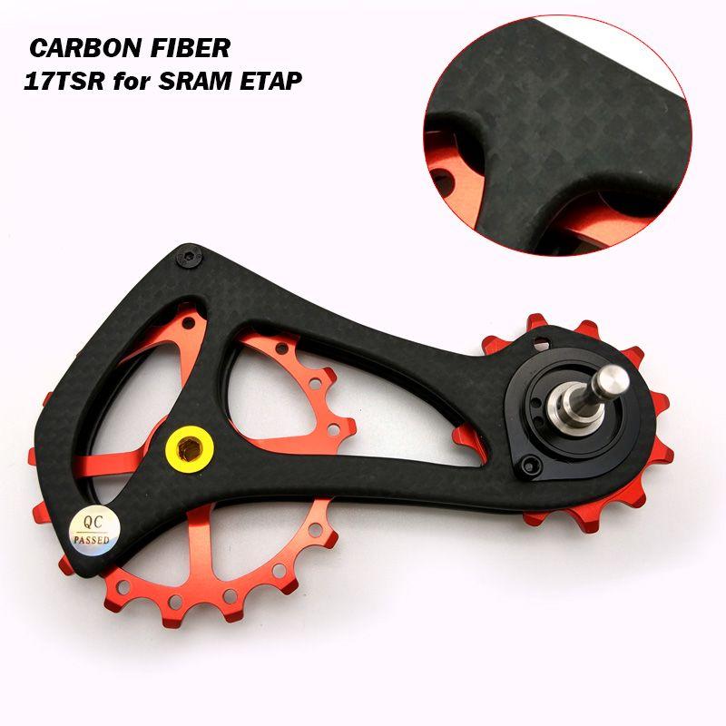 Carbon Fiber Bike Rear Derailleur Pulleys Ceramic Bearings Jockey Wheel Set for SRAW ETAP