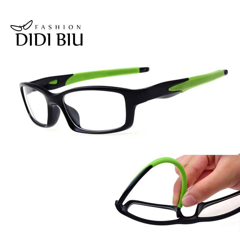 DIDI TR90 titane lunettes Anti-Explosion décontracté lunettes Rectangle Silicone clair lunettes myopie monture de lunettes de vue U528