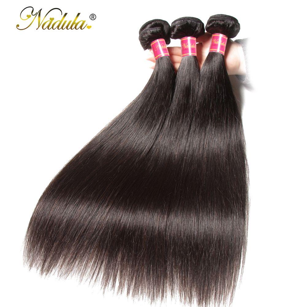 Nadula cheveux 3 paquets/4 paquets brésiliens cheveux raides paquets 100 g/pc Remy Extensions de cheveux humains couleur naturelle armure de cheveux