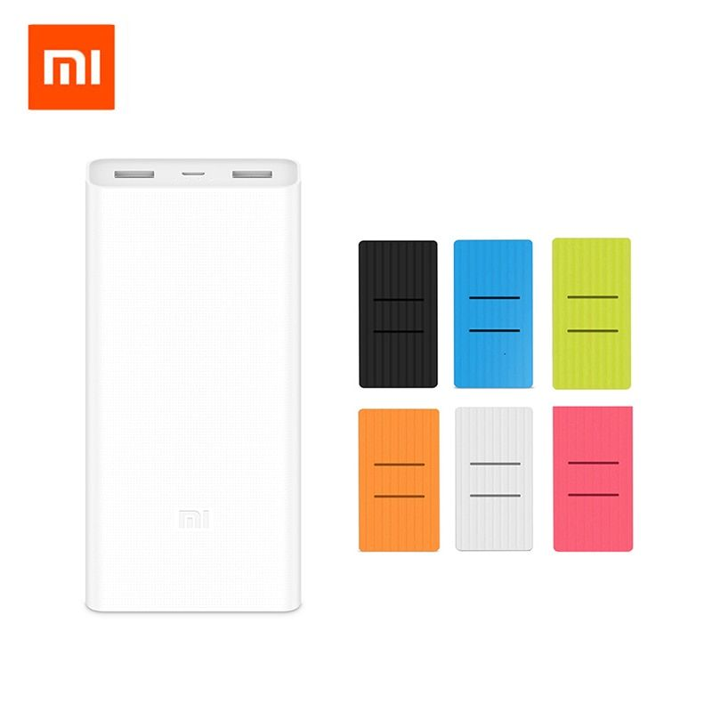 Original Xiaomi Mi 20000mAh Power Bank 2C Portable Charger Dual USB 20000 mAh Powerbank External Battery Pack