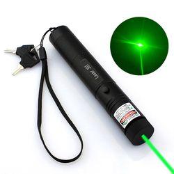 Высокая мощность регулируемый масштрабируемый фокус Сжигание зеленый лазерный указатель ручка 301 532nm непрерывная линия 500 до 10000 метров Лаз...