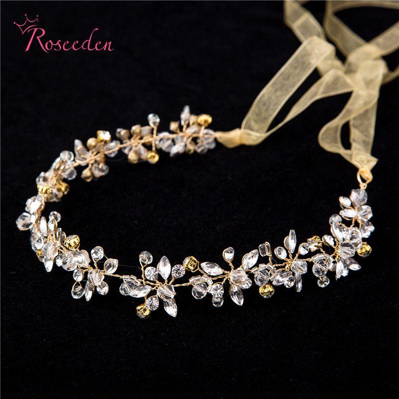 Pièce de cheveux en strass cristal de mariée faite à la main femmes blanc simulé-perle bricolage prix diadèmes de mariage couronne accessoires RE191