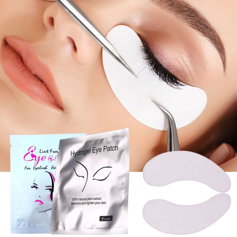 100pairs/lot Under Eye Pads Disposable Lint-free Eye Tips Sticker Wraps Make Up Eyelash Extension Eye Lash Buiding Paper Patches