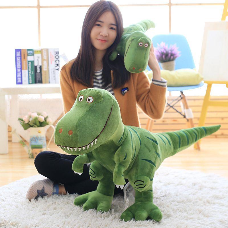 1 pc 40-100 cm nouveau dinosaure jouets en peluche dessin animé tyrannosaure mignon peluche poupées pour enfants enfants garçons cadeau d'anniversaire