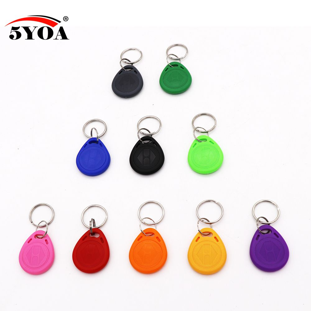 EM4100 Key 125khz ID Keyfob RFID TK4100 Tag Tags Card Sticker Fob Token Ring Proximity Chip