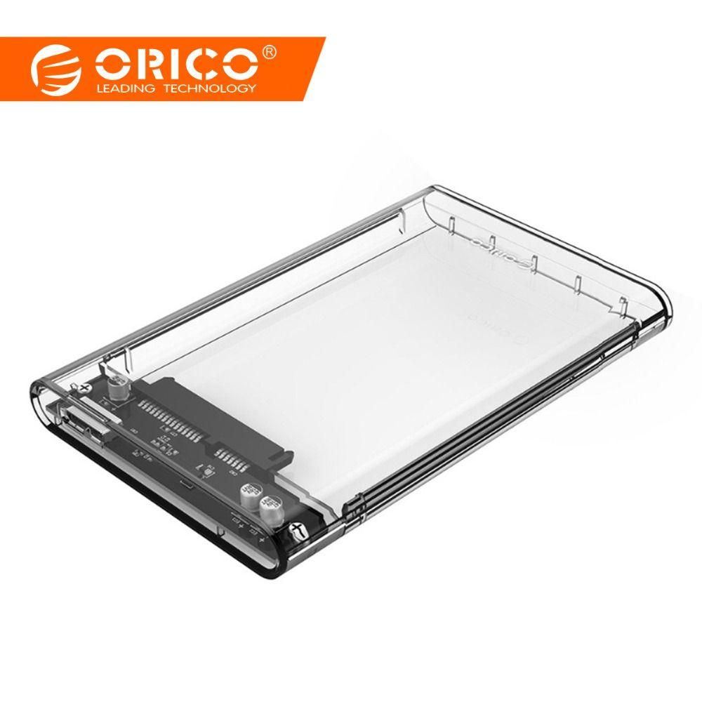 ORICO 2.5 pouces Transparent HDD Cas USB3.0 à Sata 3.0 Outil Livraison 5 4.8gbps Soutien UASP Protocole Boîtier de Disque Dur -(2139U3)
