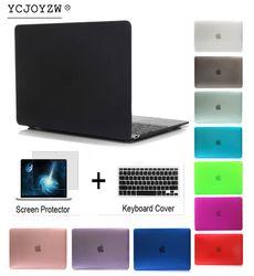 YCJOYZW Mallette Pour Ordinateur Portable Pour Apple MacBook Air Pro Retina 11 12 13 15 pour mac livre Nouveau Pro 13 15 pouce avec Tactile Bar + Couvercle Du Clavier