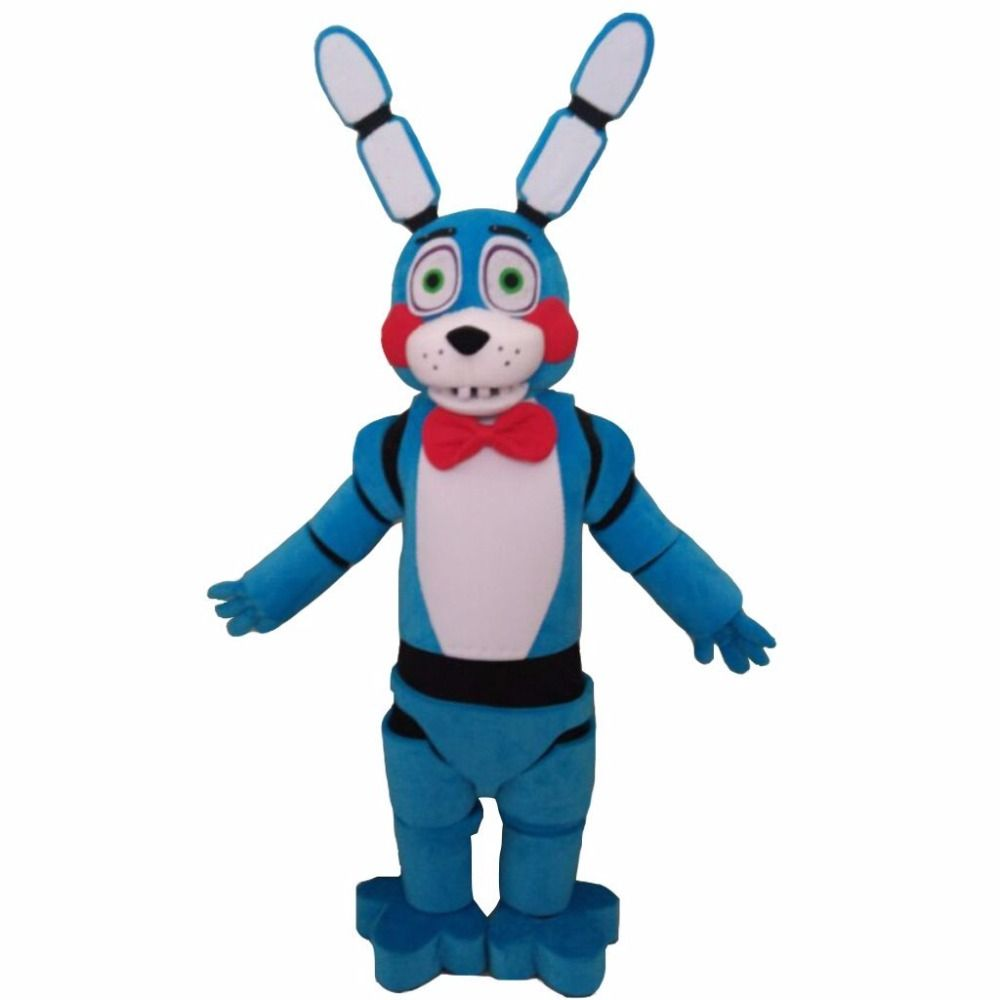 Por Encargo de Cinco Noches En Freddy FNAF Juguete Bonnie Azul Mascota de La Fiesta de Navidad de Regalo de Cumpleaños de La Mascota Traje de La Mascota L0713