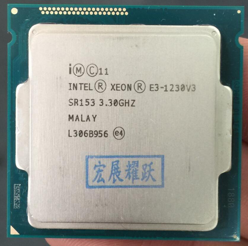 Intel Xeon E3-1230 V3 E3 1230 V3 Quad-Core Prozessor LGA1150 Desktop CPU 100% ordnungsgemäß funktioniert Desktop Proces