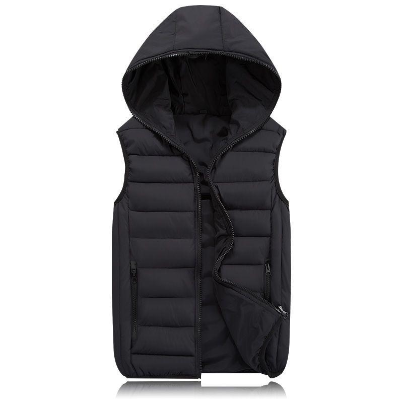 Warm Sleeveless Jacket 2017 Men Thickening Cotton Vest Hat Hooded Vest Winter Waistcoat For Men Casual Windbreaker