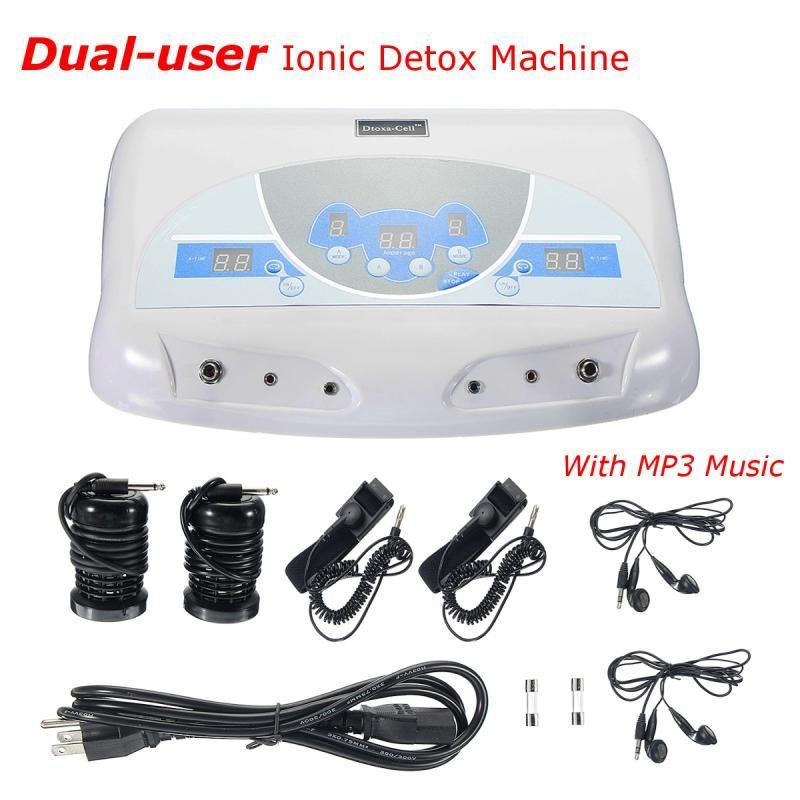 Dual-user Ionic Detox Machine Foot Bath Spa Tool LCD w/ MP3 Music Cleanse Salon