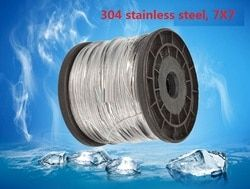 2.5MM, 3MM 17M, 7X7, 304 stainless steel wire rope softer fishing cable clothesline traction rope lifting lashing