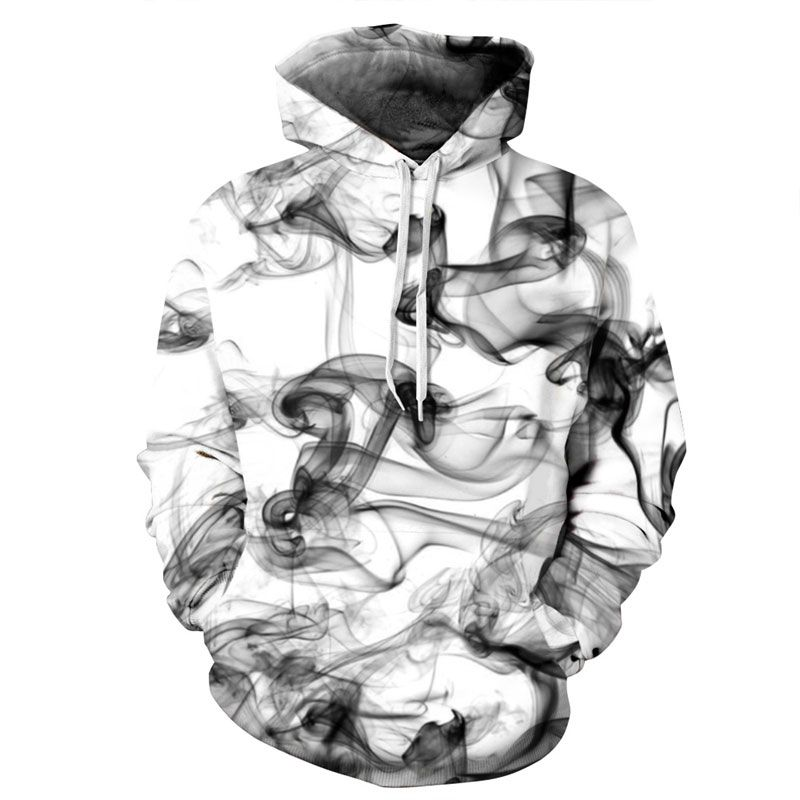 Mr.1991inc Новая мода Для мужчин/Для женщин 3D толстовки принт акварельной мечтательный дым линии тонкие Стиль осень-зима Толстовки с капюшоном
