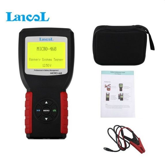 Car Battery System Tester MICRO-468 for 12v & 24v system Multi-language MICRO 468 for SOH SOC CCA IR free shipping