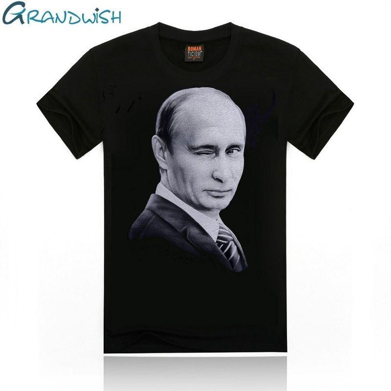 Grandwish Wladimir Putin T Shirts Männer Charakter Gedruckt männer T-shirt Oansatz Russland Präsident Putin T-Shirt für Männer, PA658