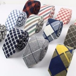 Women Tie Classic Men's Plaid Necktie Casual Sweet Rainbow Suit Bowknots Ties Male Cotton Skinny Slim Ties Colourful Cravat