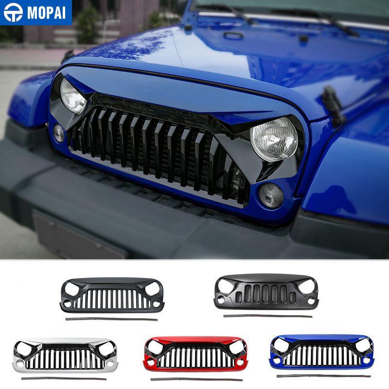 MOPAI Auto Racing Gitter für Jeep Wrangler JK 2007-2017 Kühlergrill Mesh Abdeckung Dekoration für Jeep JK Wrangler zubehör