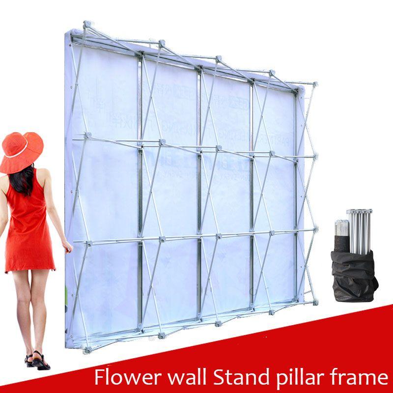 Aluminium Blume Wand Klapp Ständer Rahmen für Hochzeit Kulissen Gerade Banner Ausstellung Display-ständer Handels Werbung Zeigen