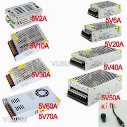 Vusum Commutation Led alimentation 5 V Transformateur 110 V 220 V AC à DC 5 V 2A 6A 10A 20A 30A 40A 50A 60A 72A pilote