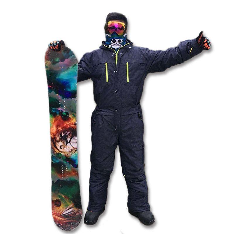 Saenshing лыжный костюм мужские зимние водонепроницаемые толстые теплые сноуборд куртка один кусок лыжный Комбинезон Спорт сноуборд и горные л...