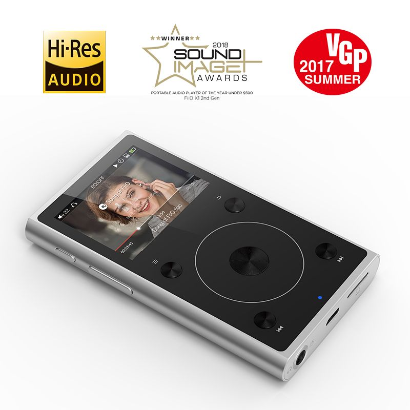 Metal Case Portable Hi-Res Music MP3 Student Player FiiO X1II Support Blutetooth 4.0 Black/Silver Color 192K/32BIT,