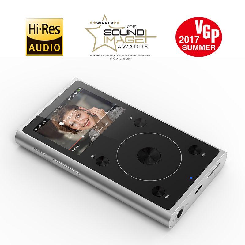Metall Fall Tragbare Hallo-Res Musik MP3 Student Player FiiO X1II Unterstützung Blutetooth 4,0 Schwarz/Silber Farbe 192 karat/32BIT,