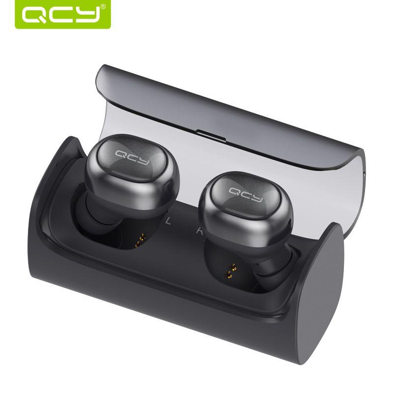 QCY Q29 TWS d'affaires Bluetooth écouteurs sans fil 3D stéréo casque casque et puissance banque avec microphone mains libres appels
