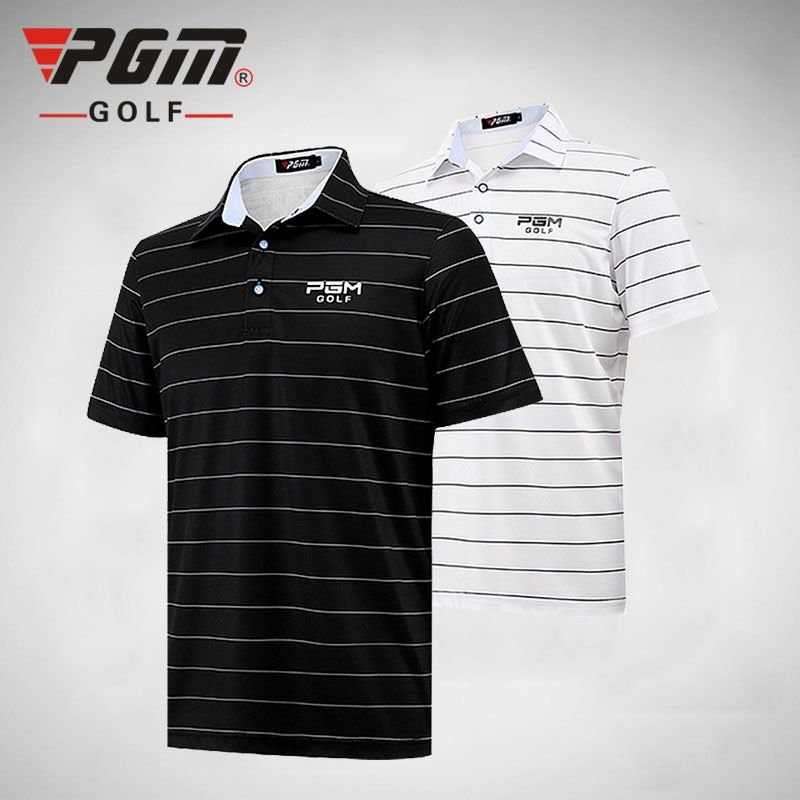 2018 New PGM Men Short POLO Shirt Summer Thin Clothes Summer Short Sleeve Striped Tshirt ropa de golf Tennis Breathable Dry Fit