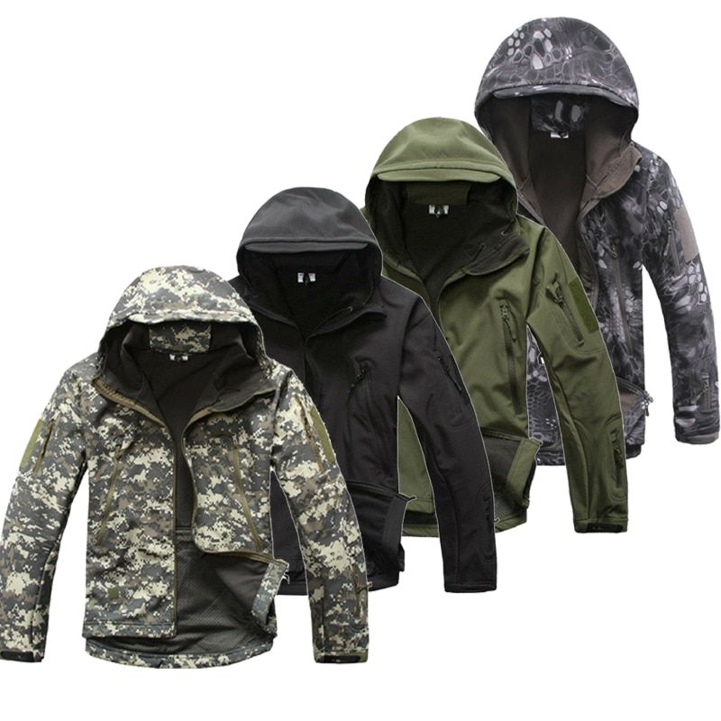 Lurker Shark Skin Softshell V5 Military Tactical Jacket Men Waterproof Coat Camouflage Hooded Army Camo Clothing