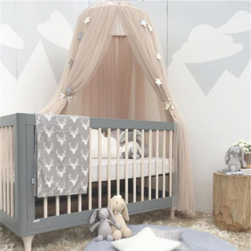 6 Colors Hanging <font><b>Kids</b></font> Baby Bedding Dome Bed Canopy Cotton Mosquito Net Bedcover Curtain For Baby <font><b>Kids</b></font> Reading Playing Home Decor