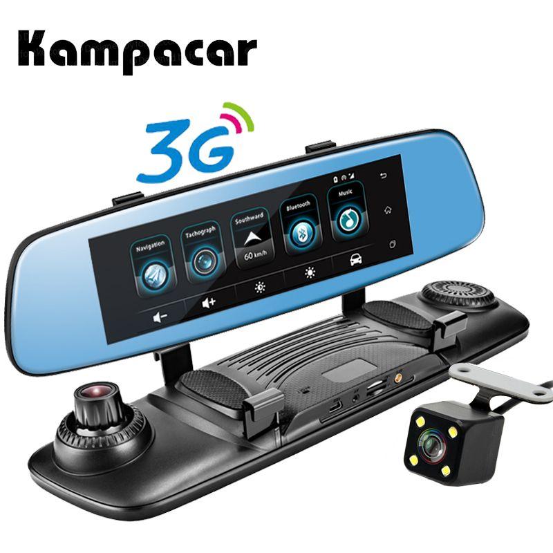 Kampacar Wifi Car 3G Android Smart Rearview Mirror Navigator 7.8