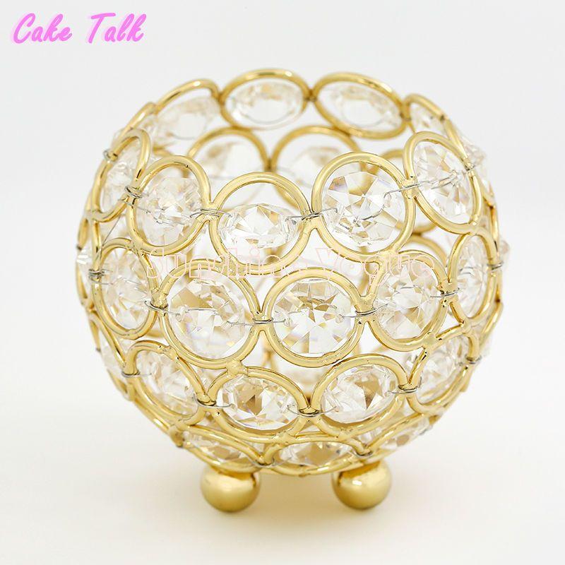 Bougeoirs de mariage or/argent cristal bol en verre 8 cm photophore bougeoir décoration bonbons bar parti fournisseur