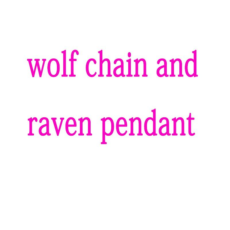 lanseis 1pcs wolf chain and raven pendant