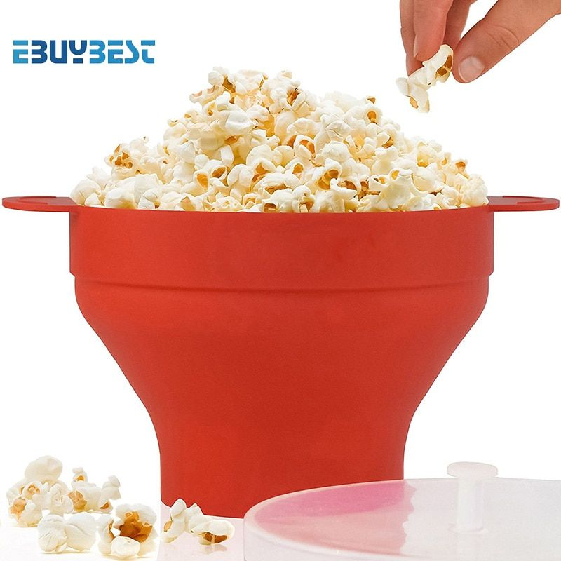 High quality Popcorn maker 290g DlY Collapsible Silicone Microwave Hot Popper Bowl folding Silicone Popcorn bucket