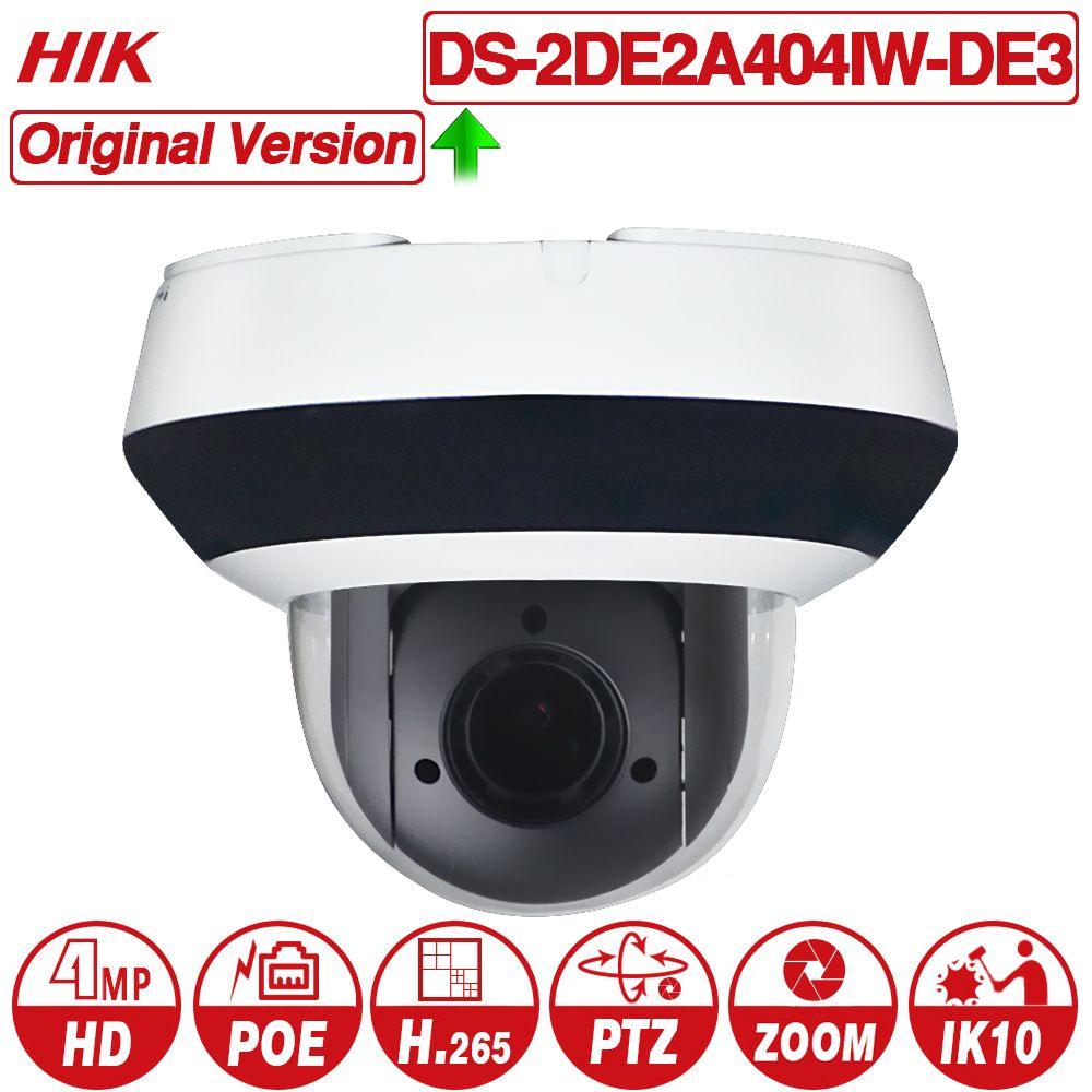 Hikvision PTZ IP Kamera DS-2DE2A404IW-DE3 4MP 4X zoom Netzwerk POE H.265 IK10 ROI WDR DNR Dome CCTV PTZ Kamera