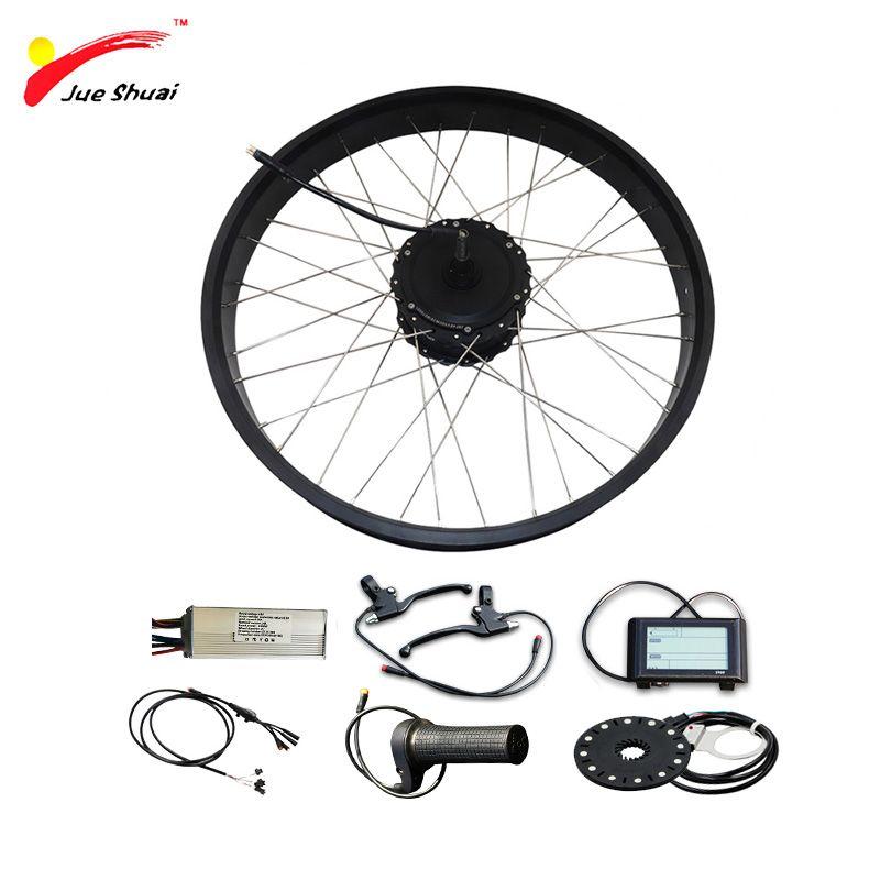E Bike 26 4,0 Fett Reifen Bike Elektrische Bike Kit 48 V 1000 W Motor Rad Elektrische Fahrrad Umwandlung kit für 26 Hinten Rad Motor