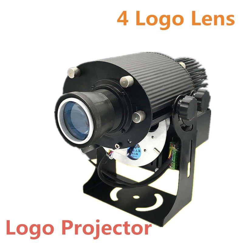 Logo Projector 4 Logo Lens Input Customized logo 20W 40W 80W custom made custom-tai Indoor Projector Display Gobo Stage Lighting