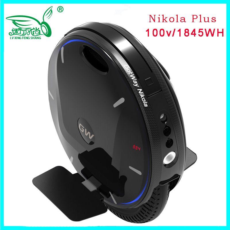 2019 neueste super Gotway Nikola elektrische einrad monowheel, ein rad roller 84V 2100WH, 2000W motor, max 55 km/h Verbesserte version