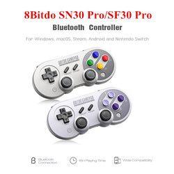 8 8bitdo SN30 Pro/SF30 Pro Bluetooth Gamepad Sans Fil Contrôleur de Jeu avec Joystick pour Windows Android Vapeur Nintendo Commutateur