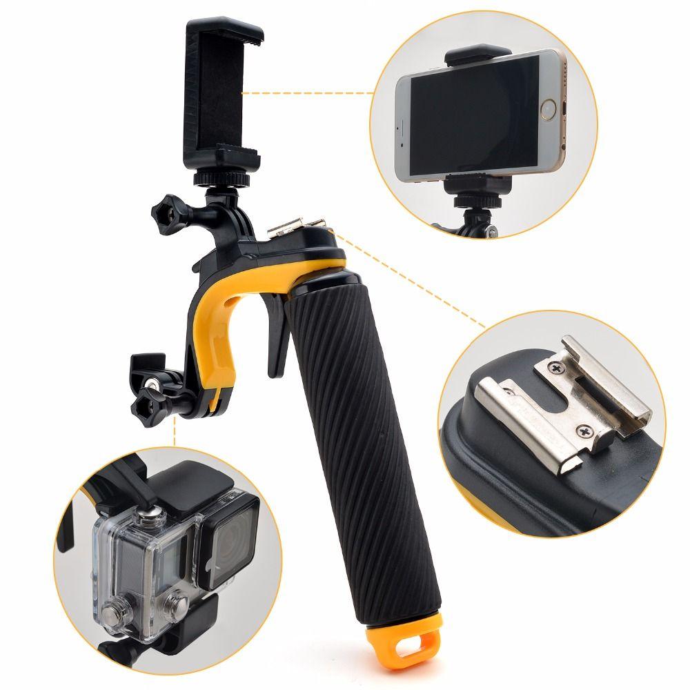 Stabilisator Abschnitt Pistole Trigger Set Schwimmdock Handle Handheld Monopod Handgriff Für Gopro für Xiaomi Yi Git2 Git2P Action Cam