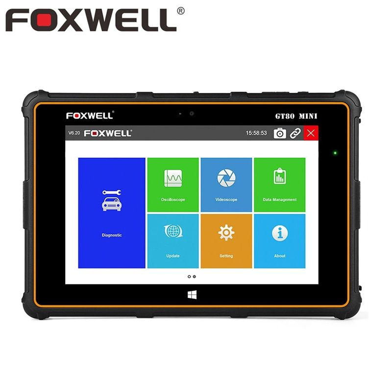 FOXWELL GT80 Mini Volle System Auto OBD OBD2 Diagnosewerkzeug Injektor-kodierung DPF Airbag SRS ABS TPMS Reset Professionelle Scanner