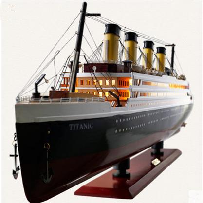 Mode Titanic Modell Dekoration Holz Segelboot Modell Handwerk Schiff Simulation Leuchtet Kreuzfahrtschiff Modell Dekoration Kreative Decor