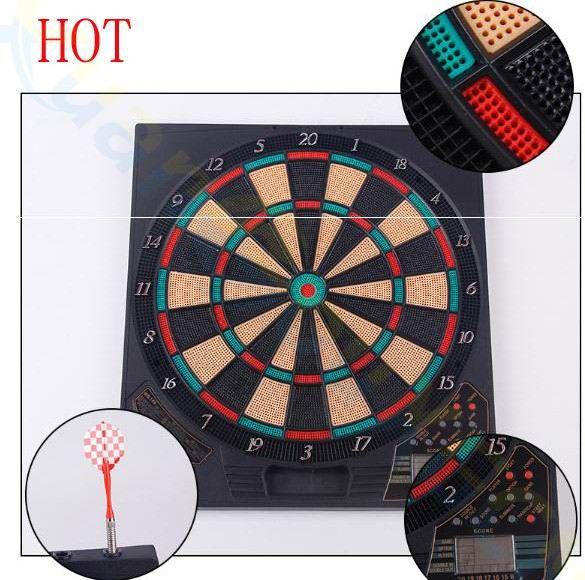Haute qualité doux jeu de fléchettes électronique scorre 37 jeu 1LED 6 dart New hot