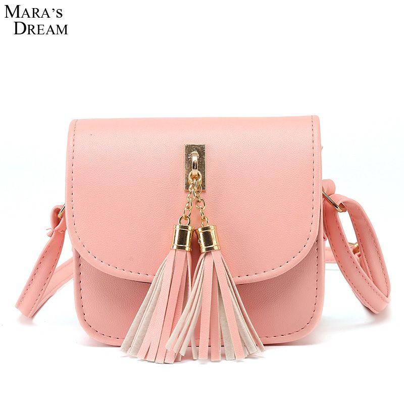 Mode 2018 Kleine Ketten Tasche Frauen Candy Farbe Quaste Messenger Bags Weiblichen Handtasche Umhängetasche Frauen Tasche